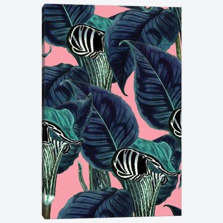 Tropical Flower Pattern Canvas Print #UMA937} by 83 Oranges Canvas Artwork