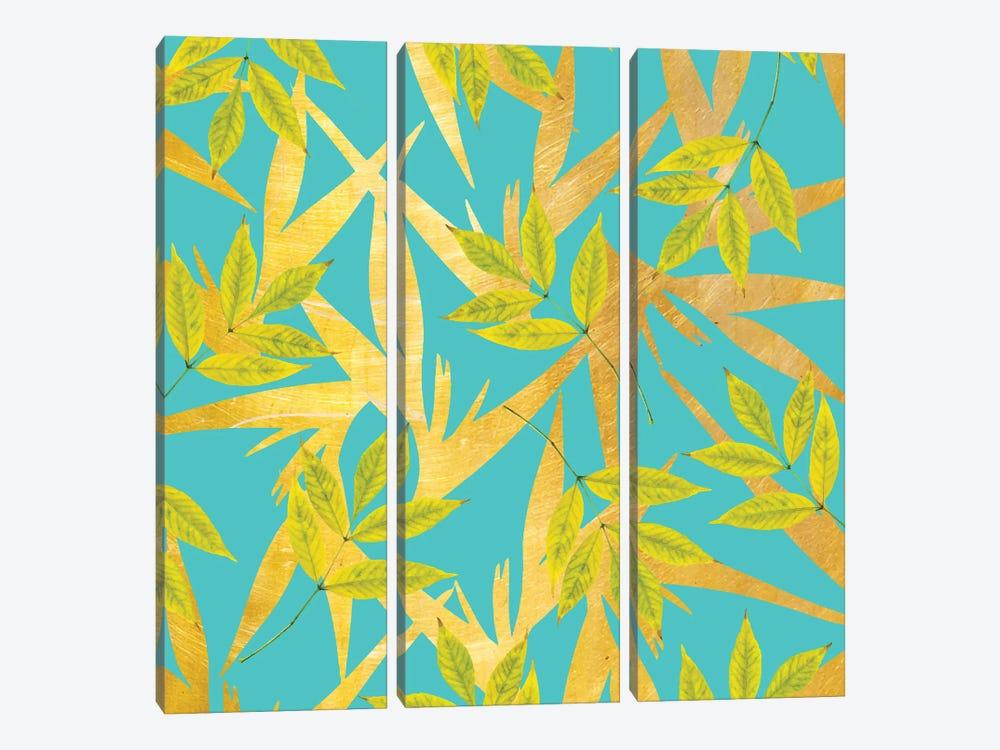 Gold & Teal Florals by 83 Oranges 3-piece Canvas Art Print