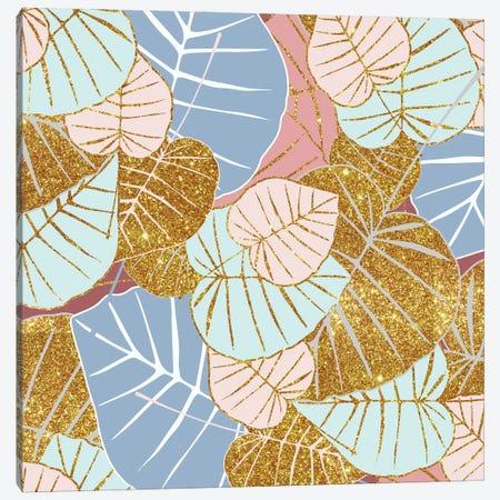 Floral Gold Canvas Print #UMA988} by 83 Oranges Canvas Wall Art