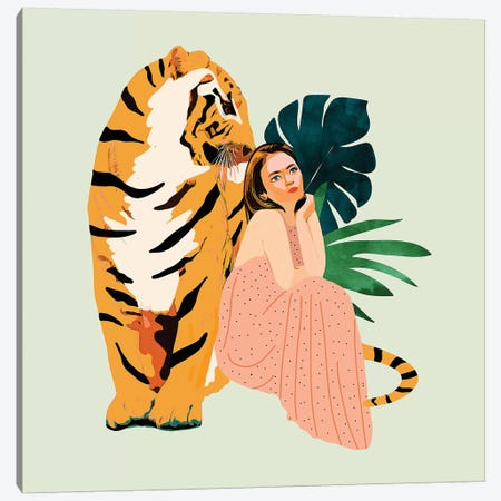 Tiger Spirit Canvas Print #UMA98} by 83 Oranges Canvas Artwork