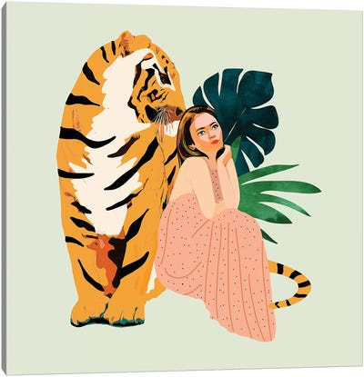 Tiger Spirit Canvas Art Print