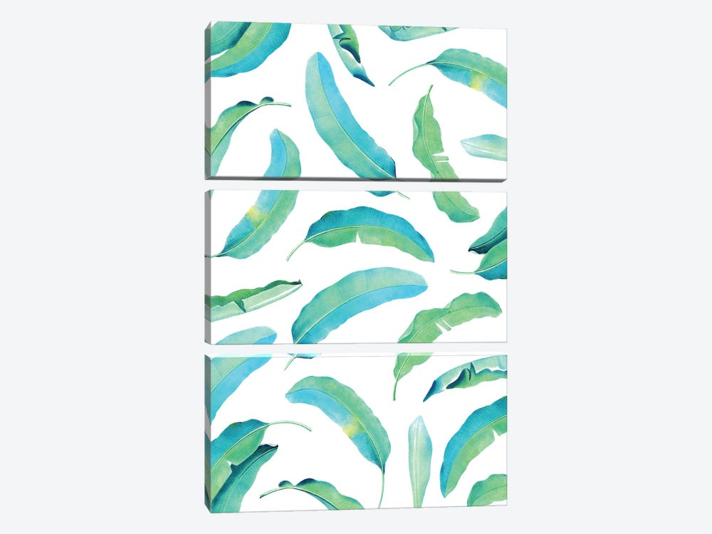 Turn Over A New Banana Leaf by 83 Oranges 3-piece Canvas Artwork