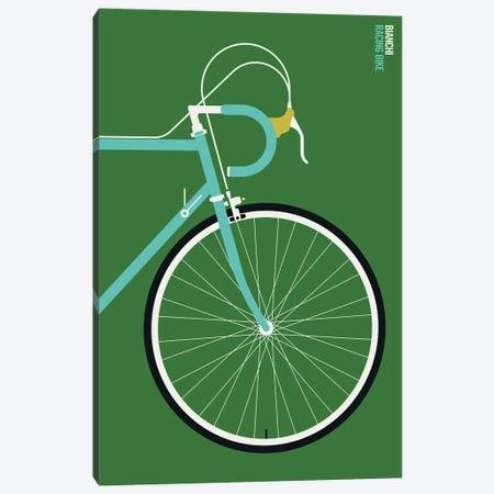Mint Sports Bike Front Canvas Print #UND100} by Bo Lundberg Canvas Wall Art