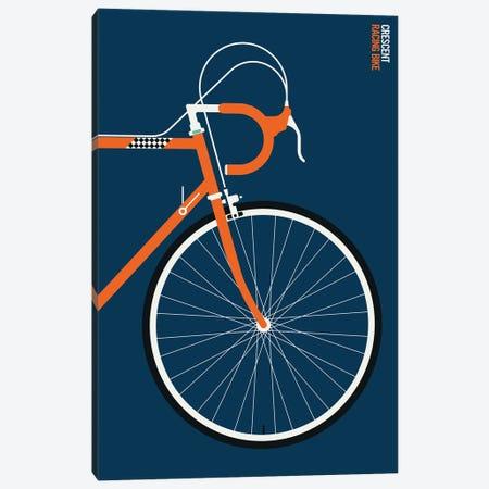 Orange Sports Bike Front Canvas Print #UND101} by Bo Lundberg Canvas Art