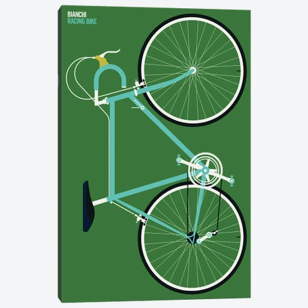 Mint Colored Sports Bike Whole Canvas Print #UND103} by Bo Lundberg Canvas Wall Art