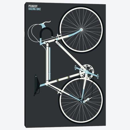 White Sports Bike Whole Canvas Print #UND105} by Bo Lundberg Canvas Print