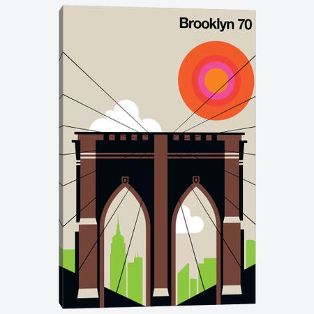 Brooklyn 70 Canvas Print #UND10} by Bo Lundberg Canvas Art Print