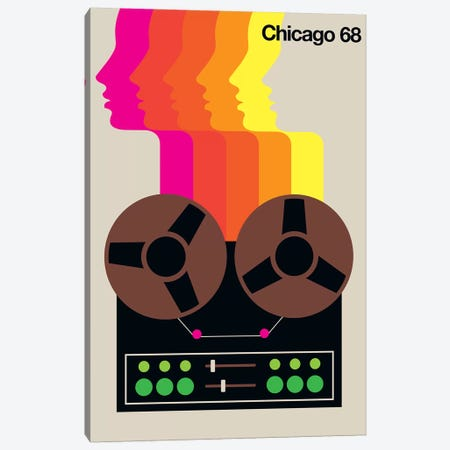 Chicago 68 Canvas Print #UND12} by Bo Lundberg Art Print