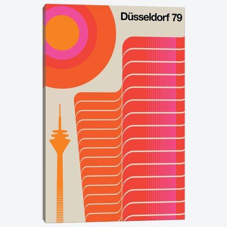 Düsseldorf 79 Canvas Print #UND16} by Bo Lundberg Canvas Artwork