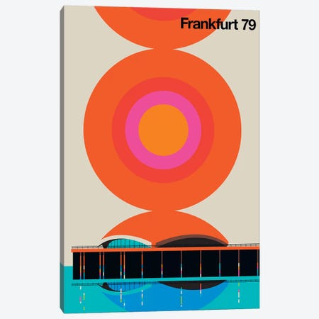 Frankfurt 79 Canvas Print #UND17} by Bo Lundberg Canvas Wall Art