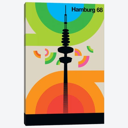Hamburg 68 Canvas Print #UND18} by Bo Lundberg Art Print