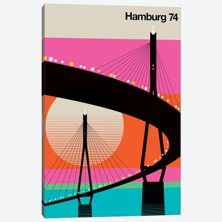 Hamburg 74 3-Piece Canvas #UND19} by Bo Lundberg Art Print