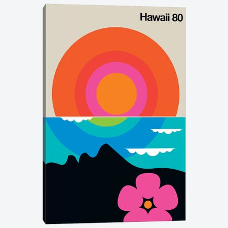 Hawaii 80  Canvas Print #UND20} by Bo Lundberg Canvas Artwork