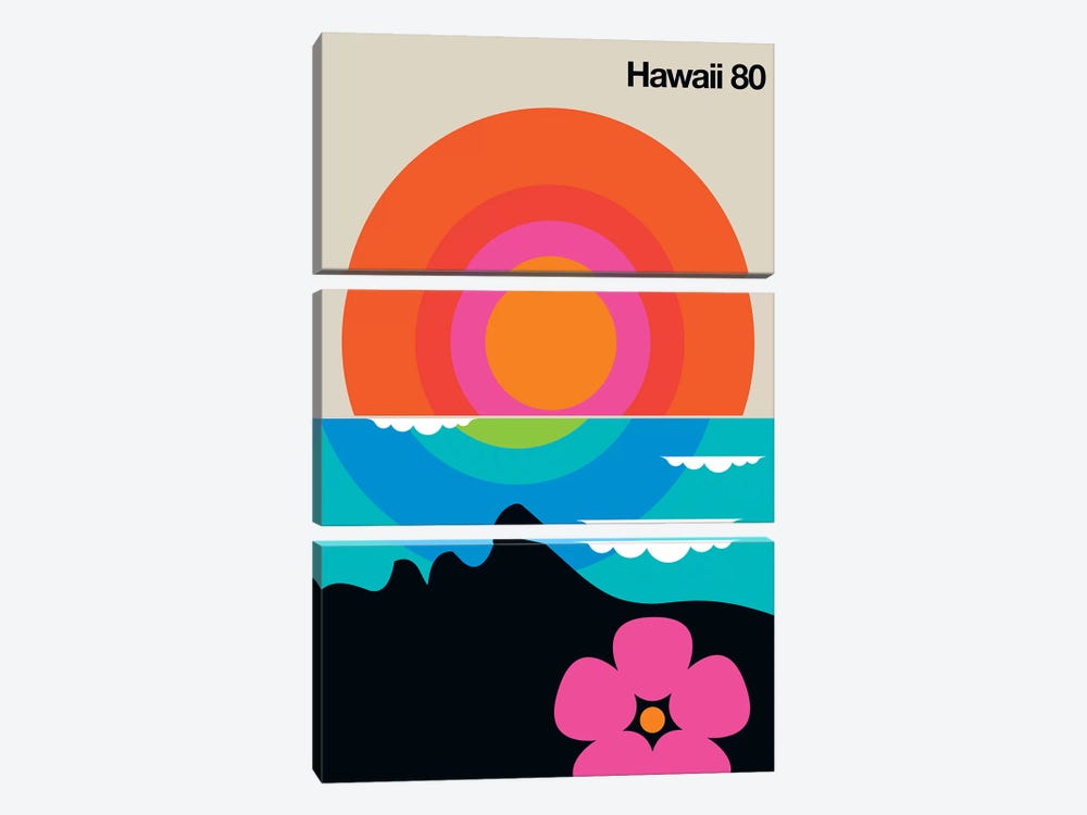 Hawaii 80  by Bo Lundberg 3-piece Art Print