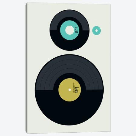 Icons - LP Vs EP Canvas Print #UND25} by Bo Lundberg Art Print