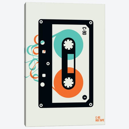 Icons - Mixtape Canvas Print #UND26} by Bo Lundberg Art Print