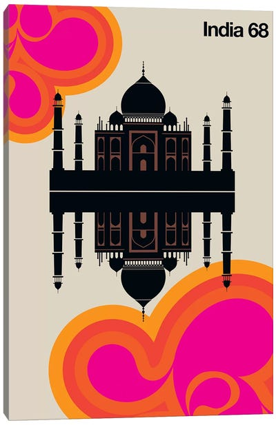 India 68 Canvas Art Print
