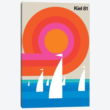 Kiel 81 Canvas Print #UND28} by Bo Lundberg Canvas Wall Art