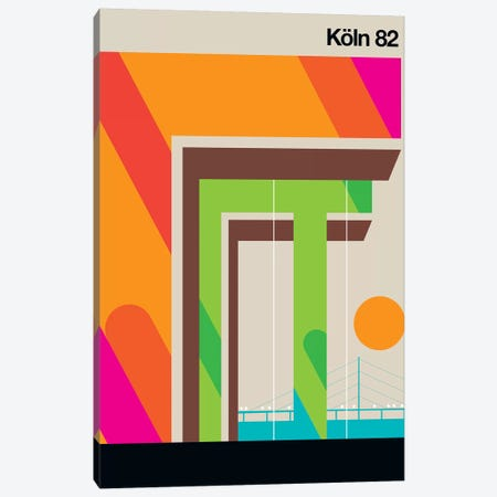 Köln 82 Canvas Print #UND29} by Bo Lundberg Canvas Wall Art