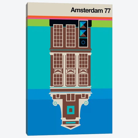 Amsterdam 77 Canvas Print #UND2} by Bo Lundberg Canvas Artwork