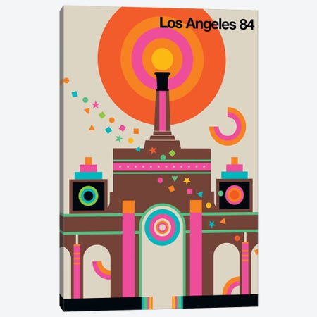 LA 84 Canvas Print #UND31} by Bo Lundberg Art Print