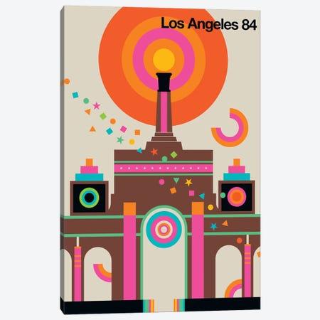 LA 84 Canvas Print #UND31} by Bo Lundberg Art Print