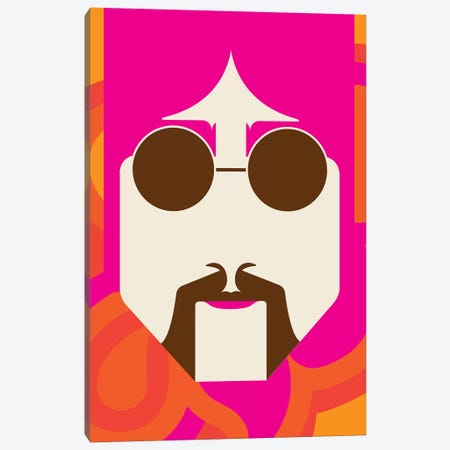 Lennon Psychedelic Canvas Print #UND32} by Bo Lundberg Canvas Art Print
