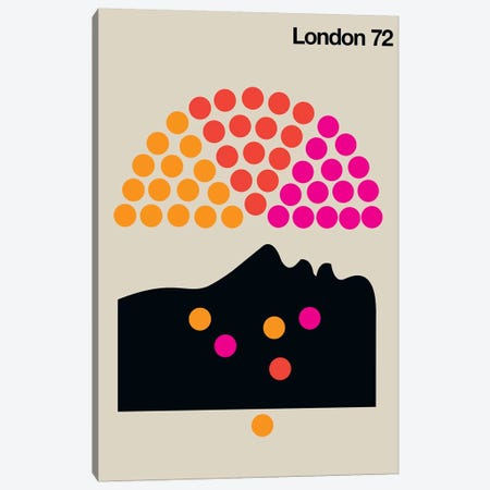 London 72 Canvas Print #UND34} by Bo Lundberg Canvas Artwork