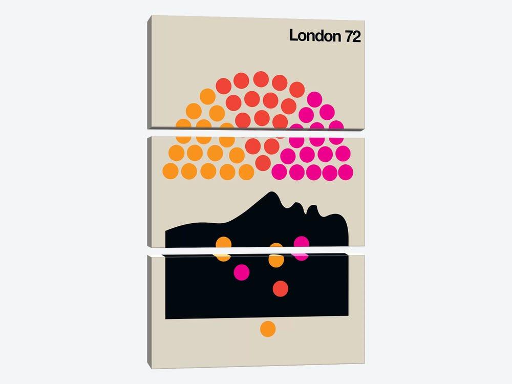 London 72 by Bo Lundberg 3-piece Canvas Art