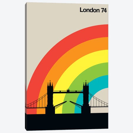 London 74 Canvas Print #UND35} by Bo Lundberg Canvas Art