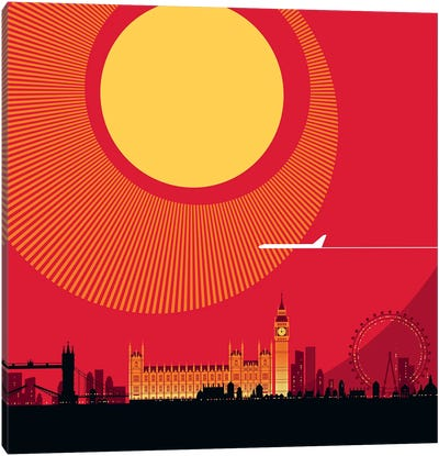 London Red Canvas Art Print