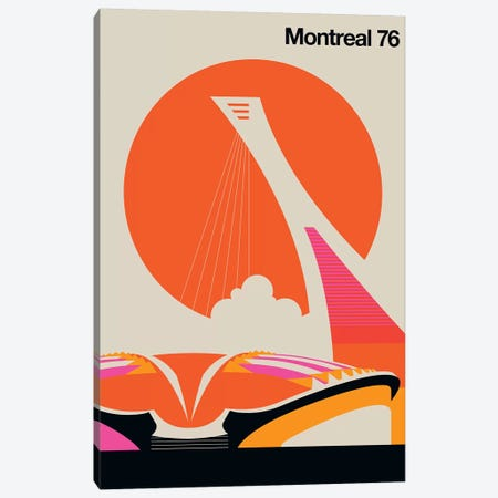 Montreal 76 Canvas Print #UND37} by Bo Lundberg Canvas Wall Art