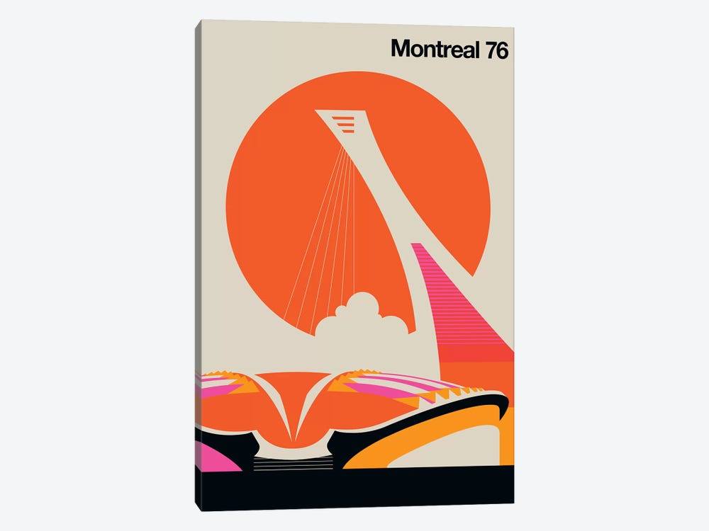 Montreal 76 by Bo Lundberg 1-piece Canvas Art Print
