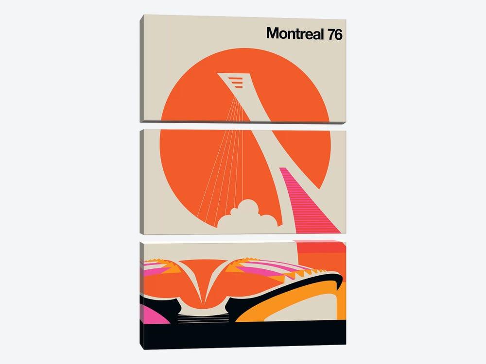 Montreal 76 by Bo Lundberg 3-piece Canvas Art Print