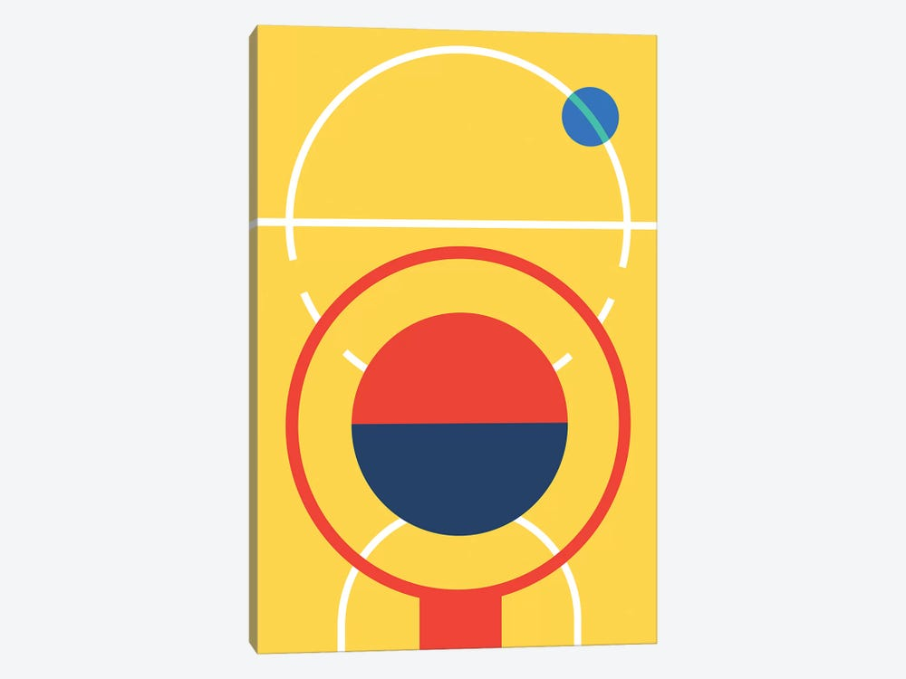 Basketball by Bo Lundberg 1-piece Art Print