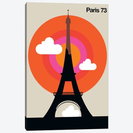Paris 73 Canvas Print #UND40} by Bo Lundberg Canvas Wall Art
