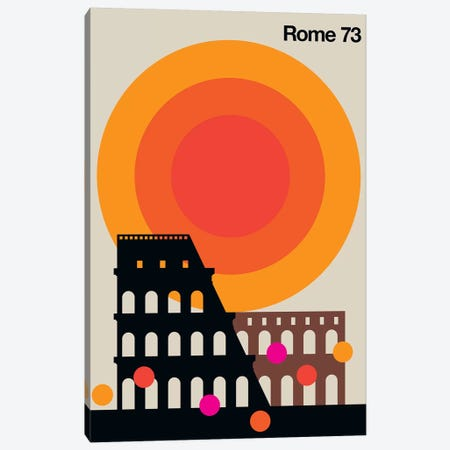 Rome 73 Canvas Print #UND42} by Bo Lundberg Canvas Artwork