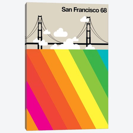 San Francisco 68 Canvas Print #UND43} by Bo Lundberg Canvas Wall Art