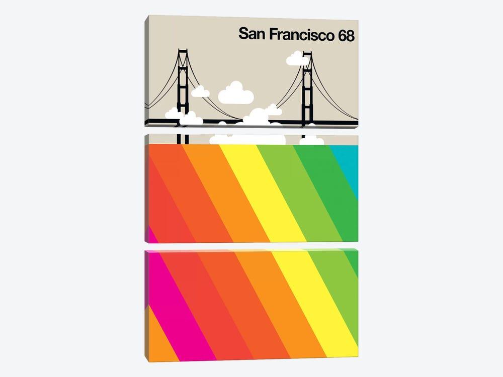 San Francisco 68 by Bo Lundberg 3-piece Canvas Art