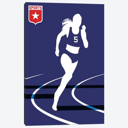 Sport - Runner Canvas Print #UND49} by Bo Lundberg Canvas Artwork