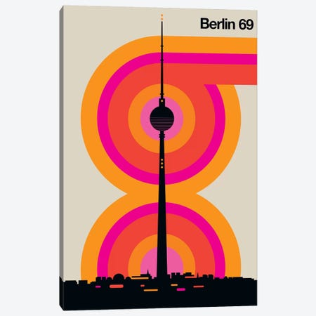 Berlin 69 Canvas Print #UND4} by Bo Lundberg Canvas Print