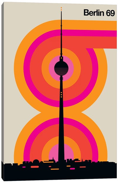 Berlin 69 Canvas Art Print