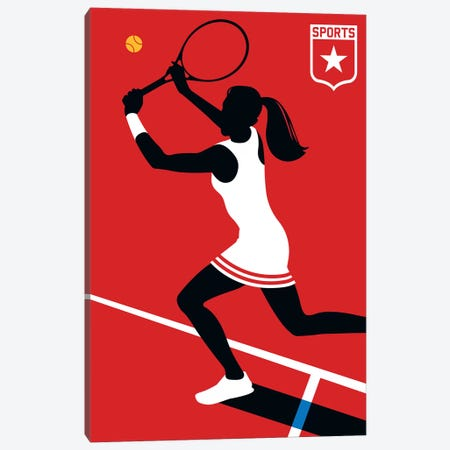 Sport - Tennis Canvas Print #UND51} by Bo Lundberg Canvas Print