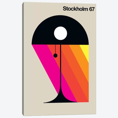 Stockholm 67 Canvas Print #UND52} by Bo Lundberg Art Print
