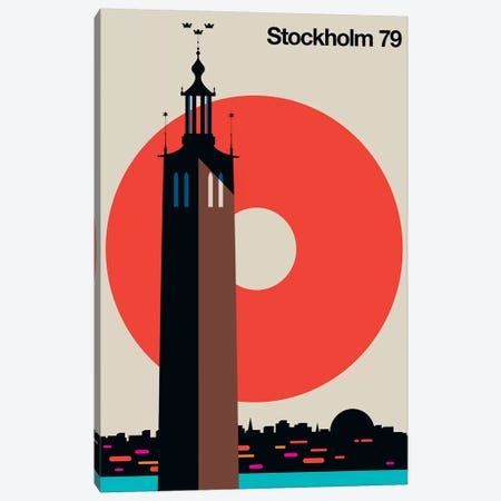 Stockholm 79 Canvas Print #UND53} by Bo Lundberg Art Print