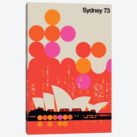 Sydney 73 Canvas Print #UND54} by Bo Lundberg Canvas Wall Art