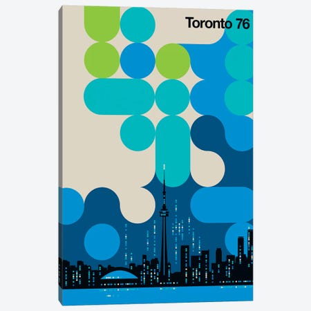 Toronto 76 Canvas Print #UND57} by Bo Lundberg Canvas Artwork