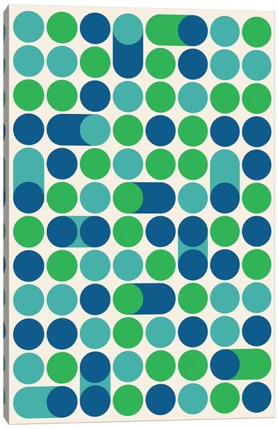 Blue Bleep Canvas Art Print