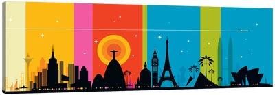 World Icons Canvas Art Print
