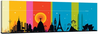 World Icons Canvas Art Print
